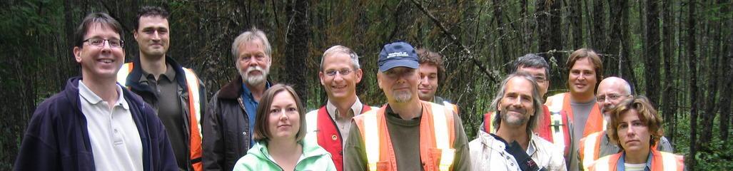 Members of CCME's biosolids task group tour a woodlot fertilized with biosolids.