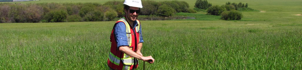 Soil samples are collected to develop and/or validate best management practices.
