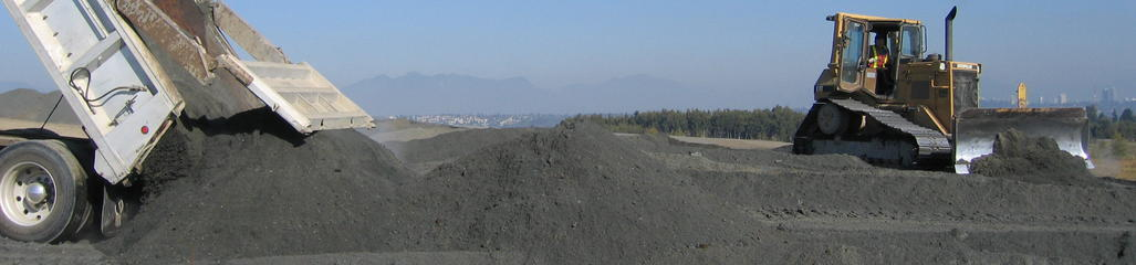 Pulp and paper residuals provide a source of carbon to this fabricated soil placed on top of a closed landfill.